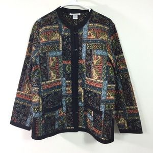 NORTH STYLE QUILTED TAPESTRY JACKET